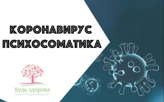 Коронавирус психосоматика